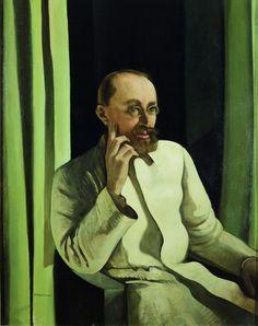 Felice Casorati,  Ritratto di Antonio Veronesi,  1922 circa,  tempera su tavola, cm 101 x 79,5, Galleria d'Arte
