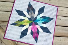 Mini Swap with straight line quilting