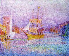 Le port de Marseille par Paul SIGNAC (1863-1935) 1906