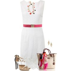 White Dress, created by daiscat on Polyvore