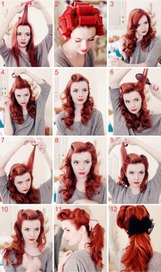 Pinup Victory Rolls and Lass (Julie)'s perfect face