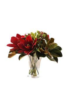 Winward Magnolias In Flared Glass Vase, http://www.myhabit.com/redirect/ref=qd_sw_dp_pi_li?url=http%3A%2F%2Fwww.myhabit.com%2F%3F%23page%3Dd%26dept%3Dhome%26sale%3DA3C266IXUWHCEE%26asin%3DB008HYK2RM%26cAsin%3DB008HYK2RM