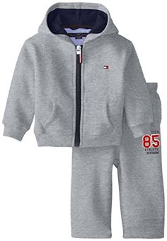 Tommy Hilfiger BabyBoys Newborn Draper Fleece Set Grey Heather 6 Months -- Be sure to check out this awesome product. (This is an affiliate link) #BabyBoyHoodiesandActive