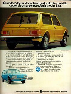 Anúncio Volkswagen Brasilia - 1974