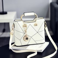 c01ce67764 New Arrival Women s Bag Classic Lady Fashion Sweet Girls Messenger Bags Hot  Color White Handbags from