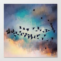 Flock Together Stretched Canvas by ADH Graphic Design - $85.00