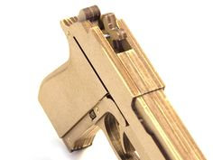 Wood Rubber Band Gun Kit - Beretta M9   Toy Gun Supply