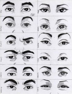 Amazing Learn To Draw Eyes Ideas. Astounding Learn To Draw Eyes Ideas. Face Drawing Reference, Realistic Eye Drawing, Human Figure Drawing, Gesture Drawing, Guy Drawing, Drawing People, Drawing Eyes, Eye Drawings, Anatomy Reference