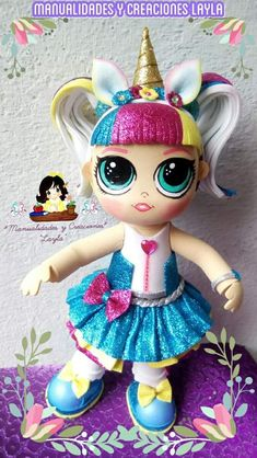 Foam Crafts, Diy Crafts, Lol Dolls, Fairy Art, Diy Doll, Unicorn Birthday, Doll Patterns, Cake Toppers, Projects To Try