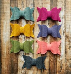 Your place to buy and sell all things handmade Felt Bows, Soft Corals, Chunky Wool, Rose Petals, Color Show, Wool Felt, Craft Projects, Trending Outfits, Purple