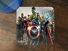 Comic Book Hero Silicone Drink Beverage Coaster 4 Pack by Compass Litho *** Click on the image for additional details.