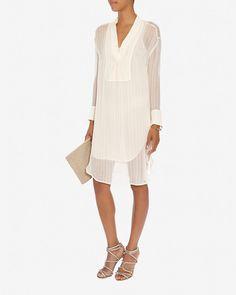 Daytime Dresses By Malene Birger Double Layer Tonal Stripe Dress Fl