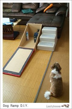 Diy Dog Ramp Unique This Pet Ramp is Easy and Inexpensive Using A Cabinet Door and. Cat Ramp, Dog Ramp For Bed, Dog Bed, Diy Dog Gate, Dog Stairs, Yorky, Dog Rooms, Pet Furniture, Animal Projects