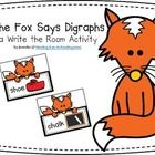 FREE! The Fox Says Digraphs Read & Write the Room