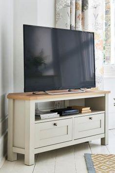 Cream Malvern Corner TV Stand