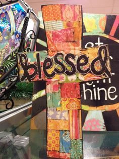 Cross decoupage.  Have kids write something on pieces of paper (scripture, blessings, thankful for...)and then decoupage to wood cross