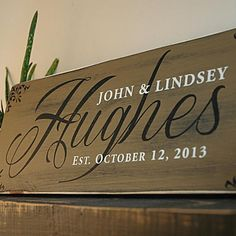 Our custom family wood signs are handmade and hand painted on a nice thick pine board. Personalized with your last name, first names and established date. This