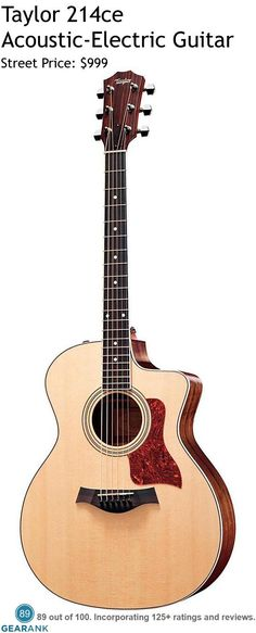 Taylor 110e Acoustic-Electric Guitar. It has a solid Sitka Spruce ...