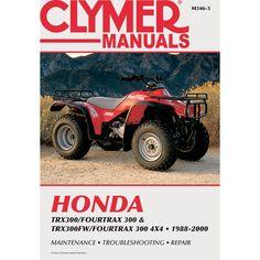 Clymer Honda TRX300/Fourtrax 300 & TRX300FW/Fourtrax, 300 4x4 (1988-2000) - https://www.boatpartsforless.com/shop/clymer-honda-trx300fourtrax-300-trx300fwfourtrax-300-4x4-1988-2000/
