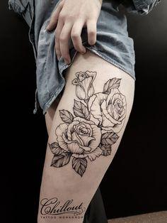 #tattoo #WhipShading #roses #flowers #татунабедре #розы #нежно #ВипШефдинг #татуировка #девушка #татуировкананоге #likeit ♥