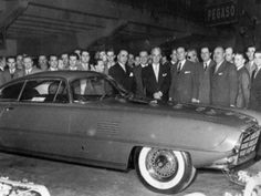 Virgil Exner Luigi Segre & Others with 1954 Desoto Adventurer II- a Chrysler Ghia collaboration