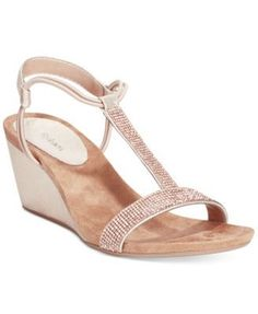 3f07ead1c66cfd Style   Co Mulan 2 Embellished Evening Wedge Sandals
