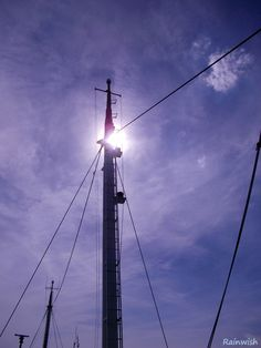Hiding the Sun (on the ocean with the ship Trip Junior in The Hague, Netherlands)  --  #mast #boat #summer #sun