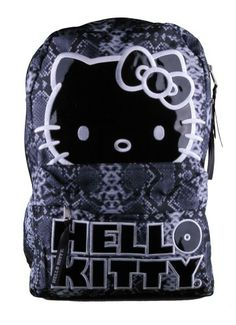 c07168a196 Amazon.com  Hello Kitty Black   White Snakeskin Print Backpack Bag  Patio