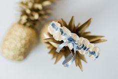 something blue bridal garter - hand made wedding garters by The Garter Girl