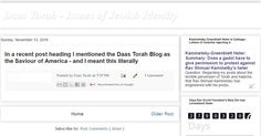 A satirical parody of a post from the Blog DaasTorah