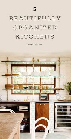 Beautifully organized and clean kitchens