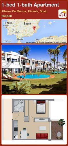 1-bed 1-bath Apartment in Alhama De Murcia, Alicante, Spain ►€89,500 #PropertyForSaleInSpain