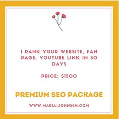 I rank your website, Fan Page, Youtube Link in 30 days Seo Packages, Your Website, Fan Page, 30 Day, Search Engine, Digital Marketing, Link, Youtube, Youtubers