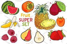 juicy fruit- BIG set by pashigorov on @creativemarket