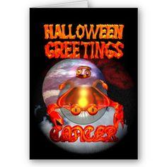 Halloween greetings Cancer zodiac by Valxart.com by ValxArt