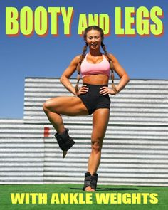 Leg And Glute Workout, Gym Workout Videos, Gym Workout For Beginners, Fitness Workout For Women, Workout Challenge, Fitness Motivation, Weight Loss, Lose Weight, Workouts With Ankle Weights