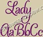 Lady Embroidery Font 3 Sizes