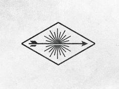 Arrow + sun design without triangle