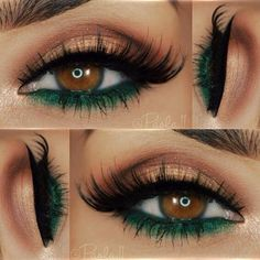 Natural Eyes With Green Bottom Liner