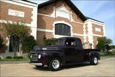 Delaney Vineyards with a vintage truck