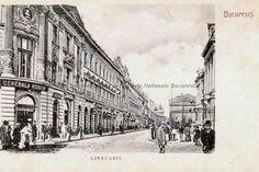 BU-F-01073-5-06359 Strada Lipscani din Bucureşti, 1880-1900 (niv.Document) Bucharest Romania, Old Pictures, Louvre, Street View, Beautiful, Country, Building, Dan, Travel