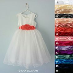4f54cce65c1 First communion dress WHITE Wedding Flower Girl by AnaBalahan White Wedding  Flowers