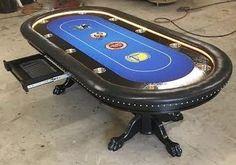 custom poker table with San Francisco area sports team logos