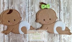 Felt Un Paper Seth and Elizabeth Twin Doll by NettiesNeedlesToo, $7.00