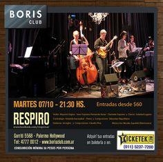 Respiro en Boris Club Buenos Aires