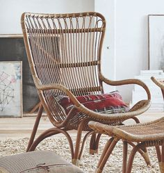 Roost Lars Rattan Collection | Modish Store European design spacious comfortable chair with ottoman and Chaise. Perfect relaxation spot after a hard day. http://www.modishstore.com/collections/new/products/roost-lars-rattan-collection