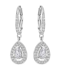 d1a3fa589 Swarovski Attract Light Drop Earrings | Dillard's Wedding Earrings Drop,  Statement Earrings, Bride Hairstyles