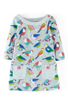 Main Image - Mini Boden Jersey Cotton Print Tunic (Toddler Girls, Little Girls & Big Girls)