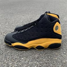 newest 73043 9a605 2019 summerAir Jordan 13 Melo Class of 2003 black yellow mens Basketball  shoes