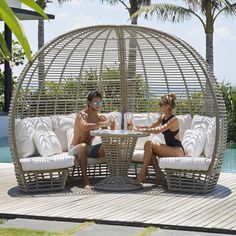 Nexus Table - Browse Modern Furniture Online   Katzberry   Katzberry Home Decor Outdoor Daybed, Outdoor Sectional, Outdoor Seating, Outdoor Loungers, Pool Furniture, Luxury Furniture, Outdoor Furniture, Furniture Layout, Futuristic Furniture
